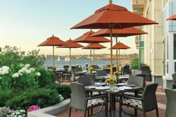 Battery Wharf Hotel Boston patio